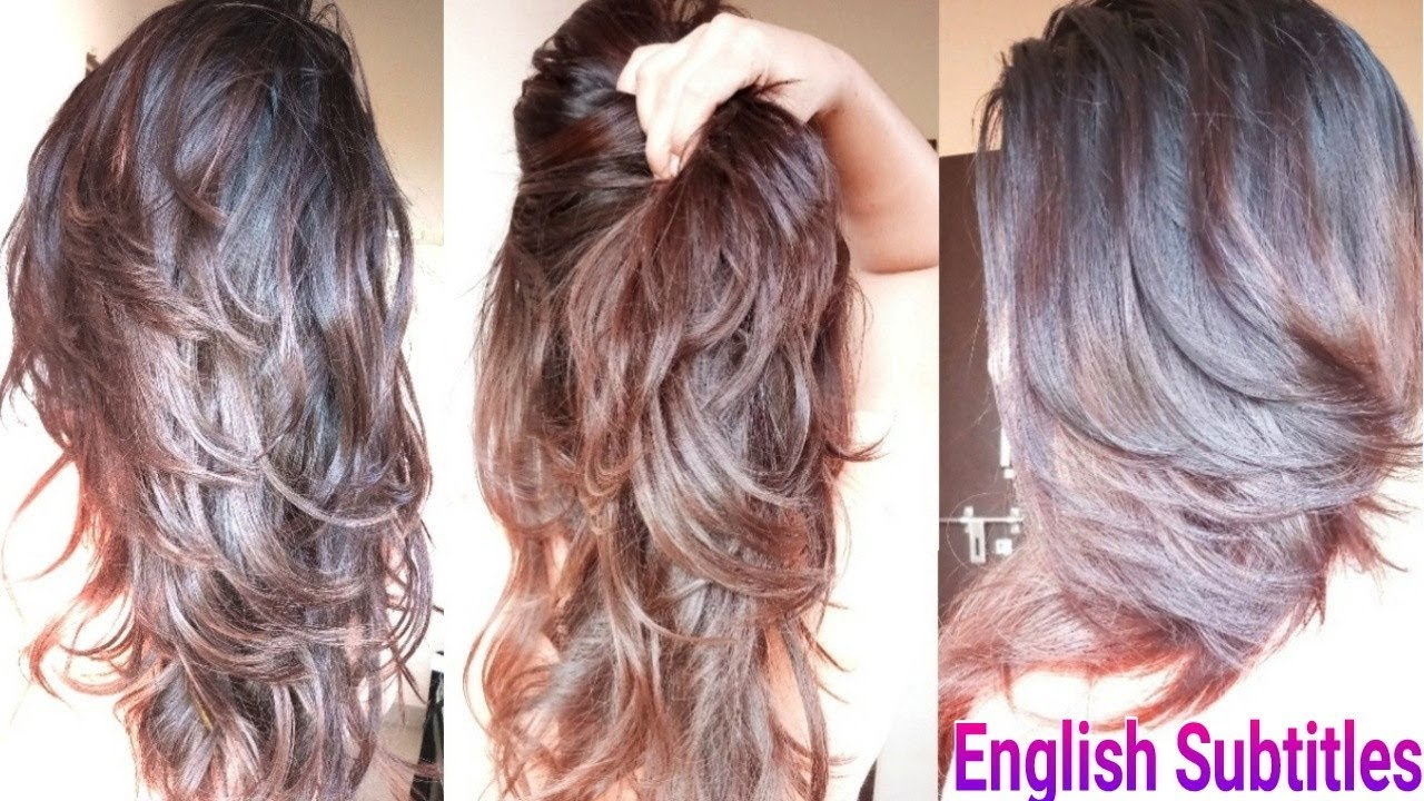 Step Cut Hairstyle For Straight Hair Front View