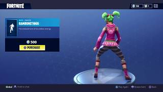 Fortnite: Battle Royale - New Emote - Rambunctious (Zoey Skin)