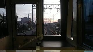 【前面展望】名鉄瀬戸線 栄町行 急行 大森・金城学院前→ 大曽根 Train front view  2018.6.20