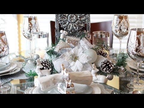 Dollar Tree Centerpiece DIY Winter Wonderland