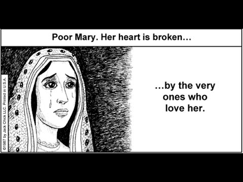 Mary is crying before Jesus Christ because Catholics keep Worshiping her - Catholicism