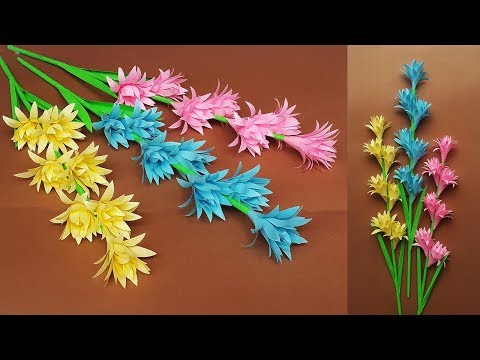 Make Beautiful Paper Stick Flower | DIY Hand Craft Ideas for Room Decor