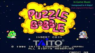 Puzzle Bobble (Arcade) - Stage Music (transposed to A Major)