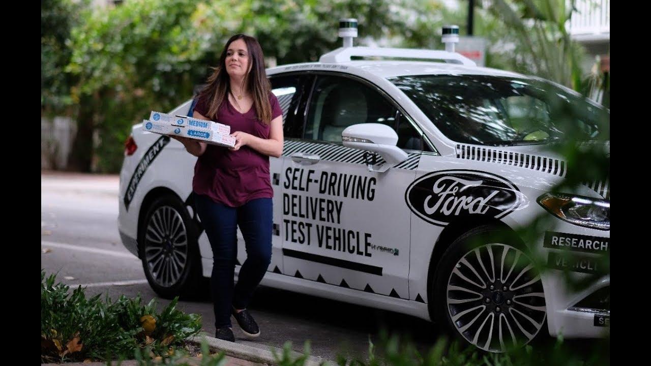 901cb0d0cc Domino s Self-Driving Pizza Delivery Car Testing in Miami - YouTube