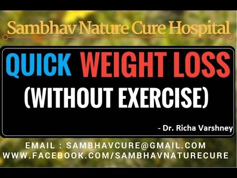 Quick WEIGHT LOSS Without Exercise in hindi | How to Lose Weight Fast | Acupressure Home Remedies
