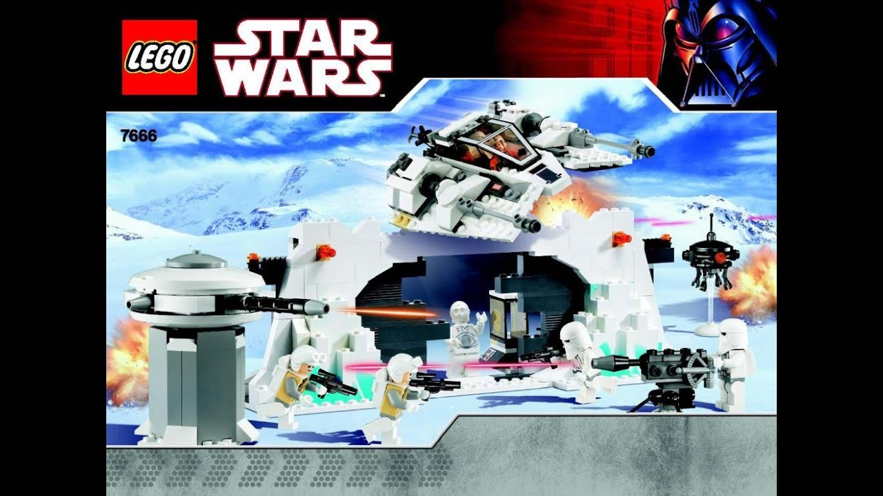 Lego Star Wars Instructions For 7666 Hoth Rebel Base Youtube