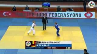 Judo Grand-Prix Samsun 2013: Charline VAN SNICK (BEL) - Kay KRAUS (GER) Final [-48kg]