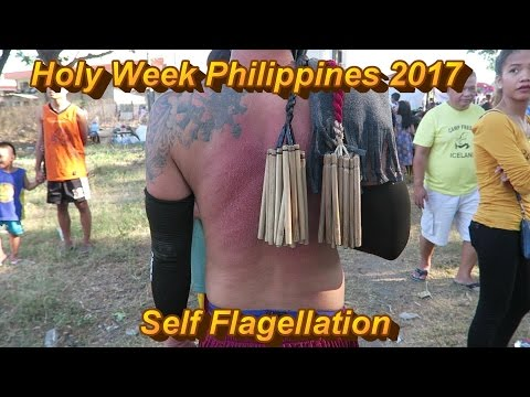 Self Flagellation :  Philippines  - Holy Week 2017 / BLOODY HOLY WEEK RITUAL( GRAPHIC VIDEO )