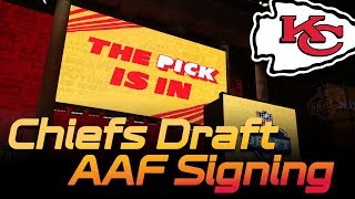 NFL Draft Targets, AAF shut down & signing - Chiefs Update | Kansas City Chiefs 2019 Athletic Matrix