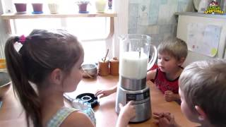 Семья Бровченко. Рецепт молочного коктейля от детей. Вкуснотища!!!(Как приготовить вкусный молочный коктейль. Ингредиенты. Так же смотрите все видео - ролики на тему Готовим..., 2015-06-11T03:14:44.000Z)