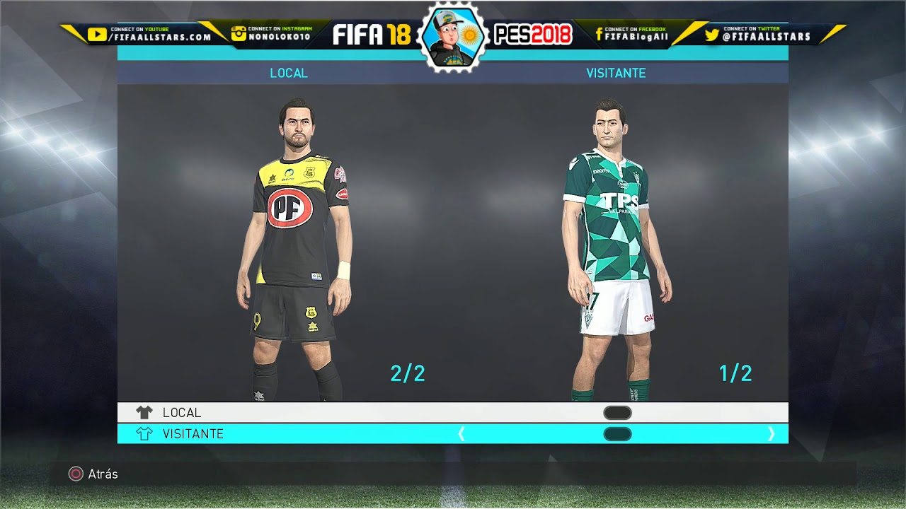 ad4545e0d Pro Evolution Soccer 2018 Liga Chilena Kits - OPTION FILE PES2018 PS4