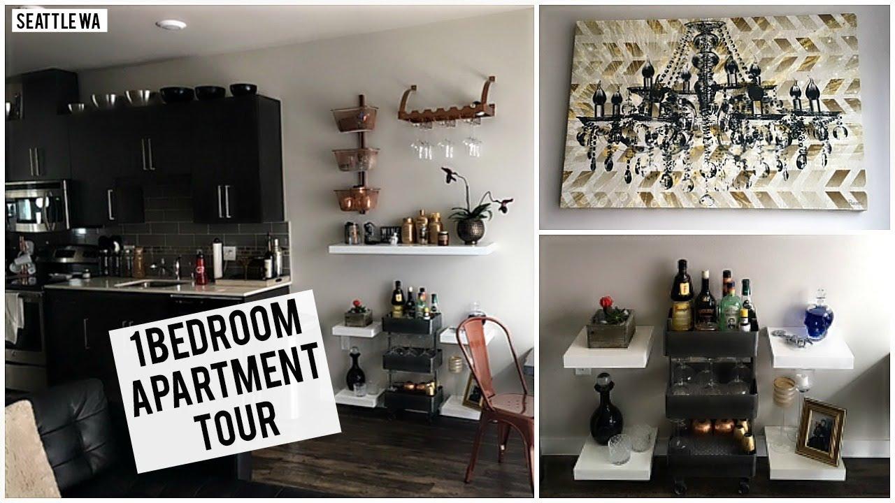 APARTMENT TOUR 2017 | SEATTLE ONE BEDROOM APARTMENT + HOME DECOR ...