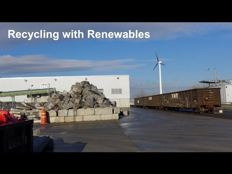Recycling with Renewables