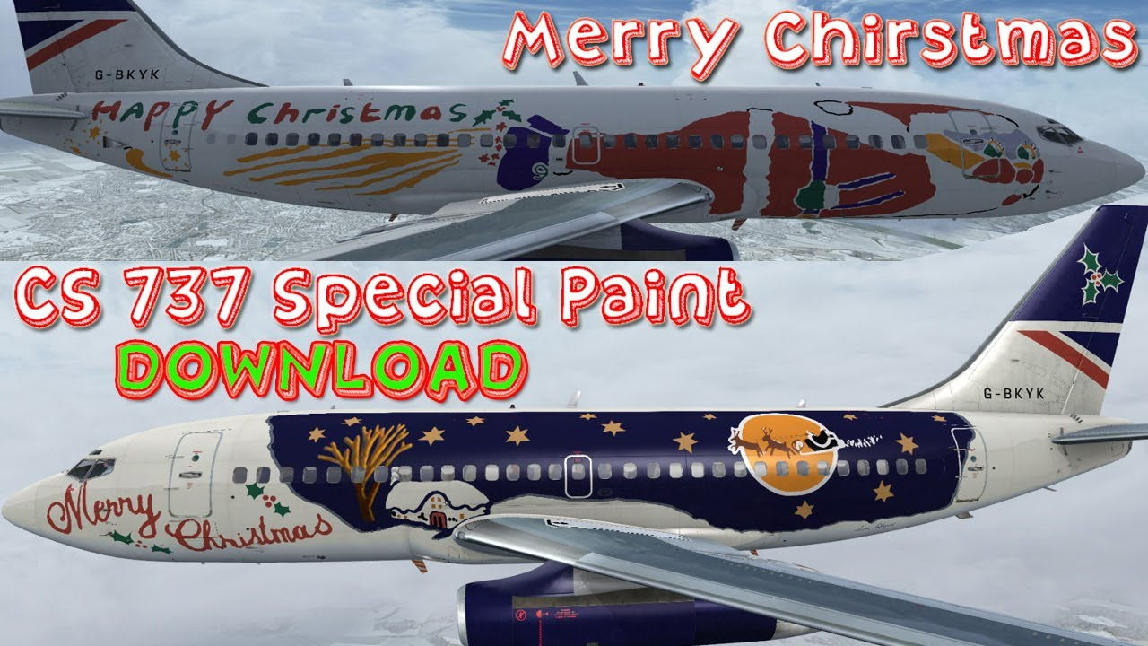 British Airways Merry Christmas Special Paint - CS 737 FSX HD