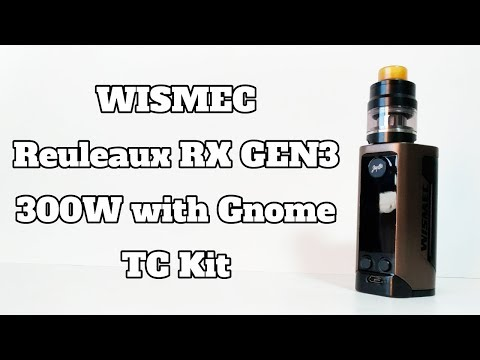 VAPE - WISMEC Reuleaux RX GEN3 300W with Gnome TC Kit - Review - YouTube