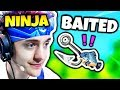 WHEN NINJA GETS BAITED AND OUTSMARTED | Fortnite Daily Funny Moments Ep.55