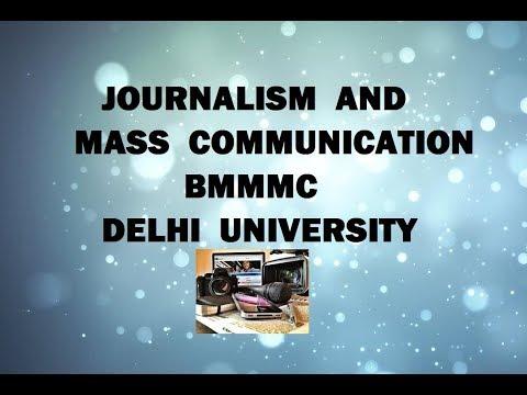 Mass Communication And Journalism Courses | Delhi University | Colleges Offering BMMC | DU