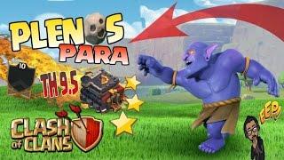 TH9.5 ATAQUES DE GUERRA   3 ESTRELLAS + ESTRATEGIA   ARCANOS TOP LVL 10   Clash of Clans Rogersslike