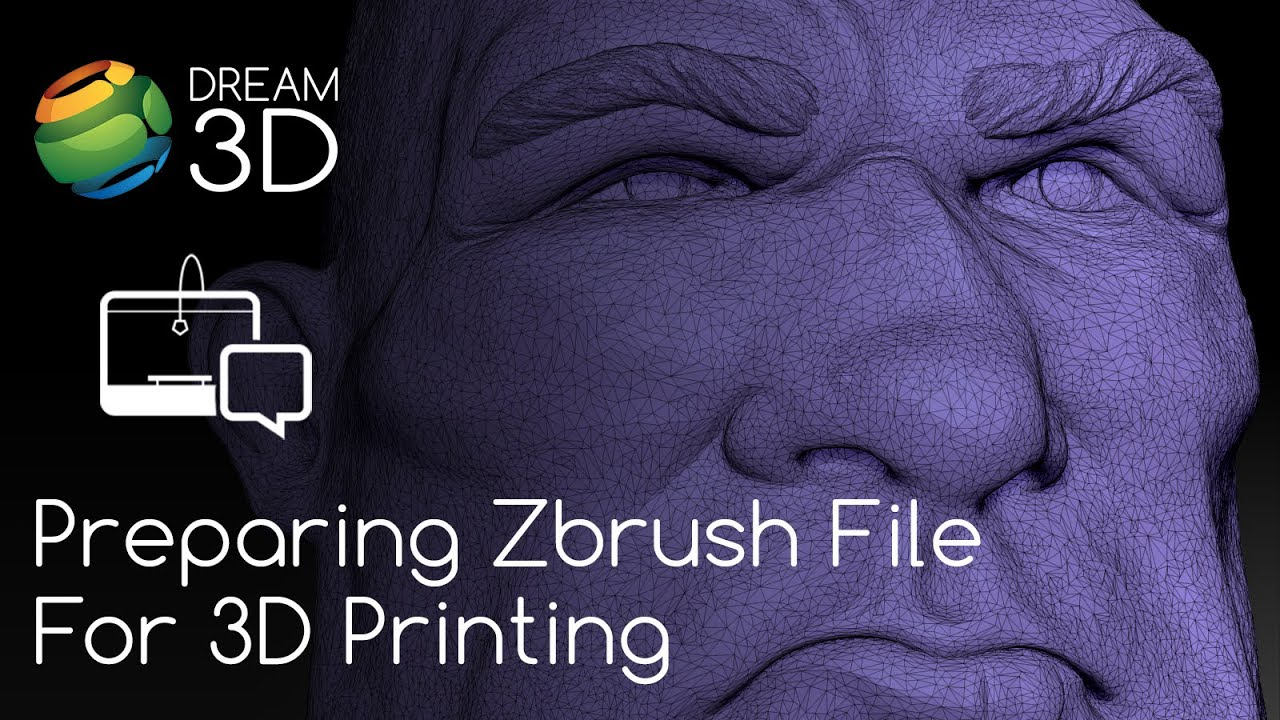 Preparing a Zbrush File for 3D Printing | Dream 3D