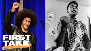 First Take debates if Colin Kaepernick should be compared to Muhammad Ali | First Take | ESPN