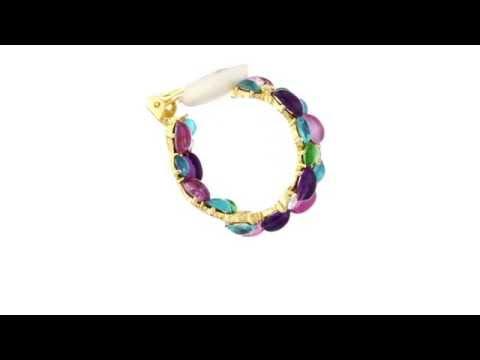 Kenneth Jay Lane Hoop Clip Earrings SKU:8590109