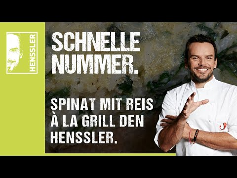 Schnelles Spinat und Reis aus dem Ofen-Rezept à la Grill den Henssler von Steffen Henssler