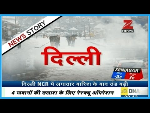 Heavy snowfall and avalanche hit back the cold in Kashmir, Shimla and other parts of North India