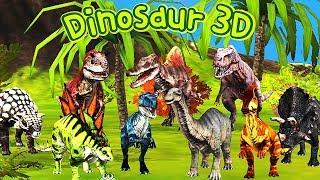Dinosaur 3D: 9 Kinds of Dinosaur | Eftsei Gaming
