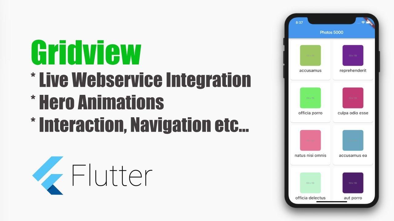 Flutter Tutorial – Complete GridView Tutorial – MOBILE