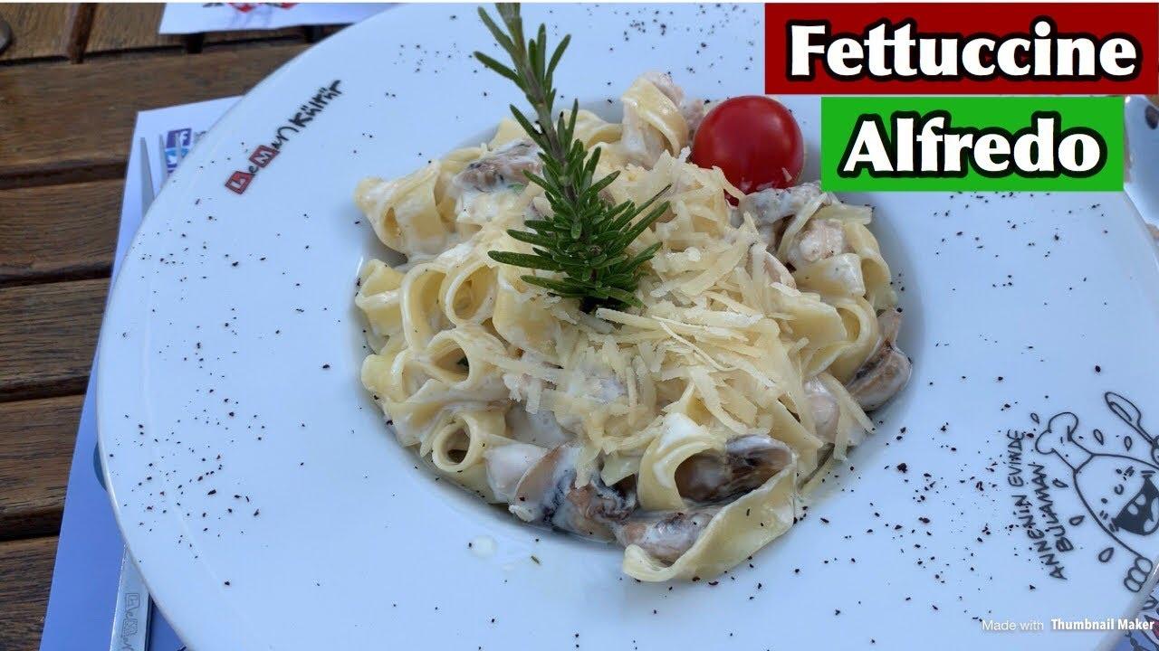 TAVUKLU FETTUCCİNE ALFREDO TARİFİ!!! | Fettuccine Alfredo Recipe