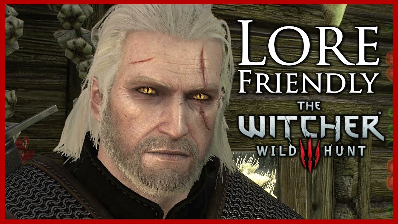 Witcher 3 Lore Friendly Witchers Mod Cat Eyes White Eyebrows