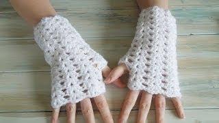 (crochet) How To - Crochet Iris Stitch Finger-less Mittens