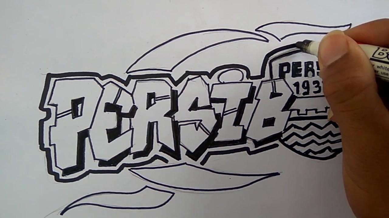 Cara Membuat Grafiti Persib Bandung Mudah Youtube