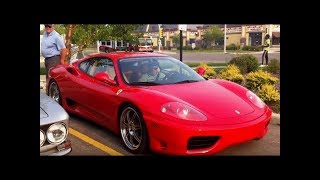 Ferrari 360s Arriving at Quarry Park Euro Cars & Coffee (August 14th, 2018)
