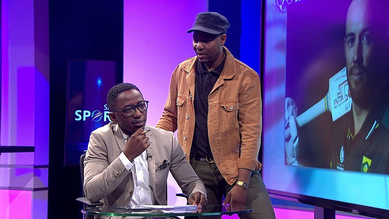 Andile Ncubechats to joyous celebration founding member Jabu Hlongwane