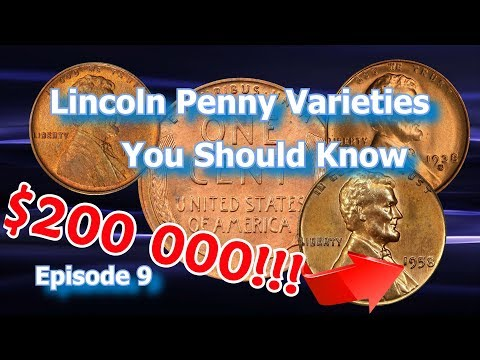 Lincoln Penny Varieties You Should Know Ep.9 - 1910, 1938, 1958 and how much money they are worth