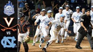 Virginia vs. North Carolina ACC Baseball Championship Highlights (2019)