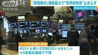 新型肺炎を受け NY株式市場で5営業日連続の下落(20/01/28)
