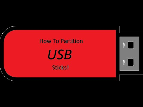 How To Partition A USB Stick!