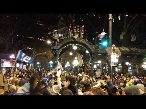 Seahawks Super Bowl Celebration (Pioneer Square, Seattle)