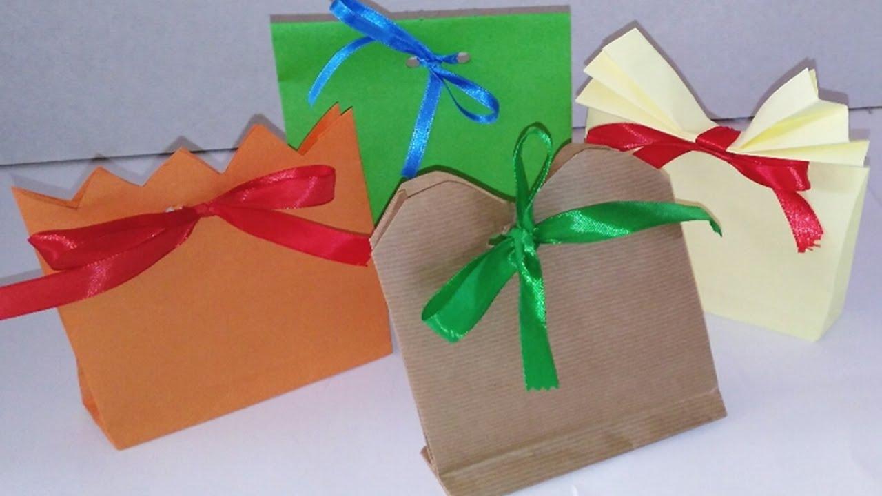 Bolsas de papel para regalos manolidades manualidades y - Youtube manualidades de papel ...