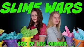SLIME WARS BOX OF LIES SUMMER EDITION || Taylor and Vanessa