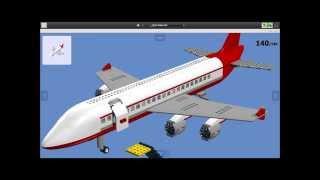 Un avion sur lego digital designer