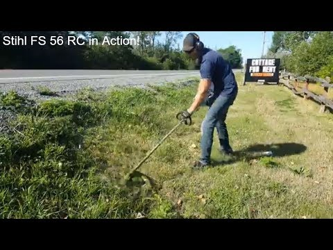Stihl Fs 56 Rc in action!