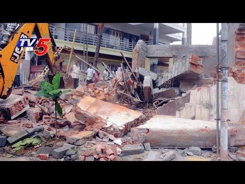 GHMC Begins Demolition Of  Illegal Buildings   Hyderabad   Telugu News   TV5 News