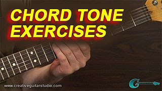 GUITAR THEORY: Chord Tone Exercises