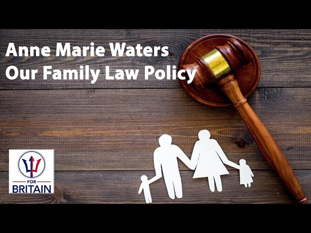 Demanding fairness - our family law policy // Anne Marie Waters // For Britain