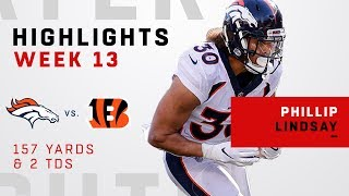 Phillip Lindsay Continues His Dominance w/ 2 TDs vs. Cincy