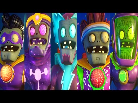 PvZ Garden Warfare 2: ALL SUPER BRAINZ ZOMBIES! (NEW Zombies, GAMEPLAY)
