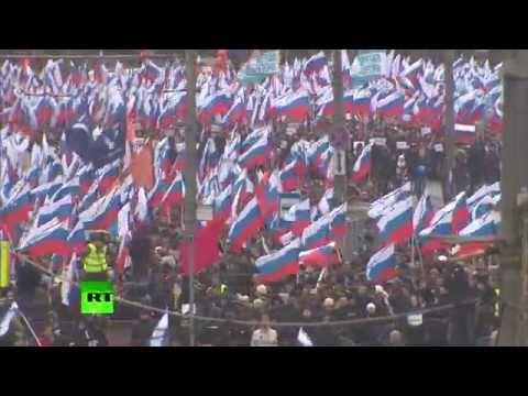 В Москве прошел траурный марш памяти Бориса Немцова